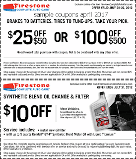free Firestone coupons april 2017