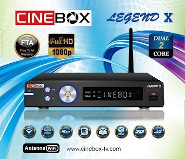 CINEBOX LEGEND X / X2 ATUALIZAÇÃO ALTERNATIVA SKS 107W - 08/09/2019