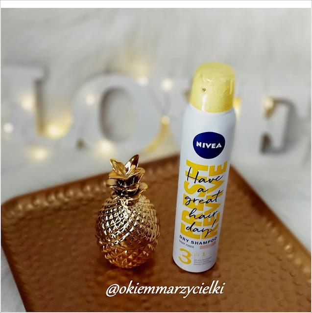 Suchy szampon dla blondynek Fresh Revive, Nivea - recenzja #70 #mojaNIVEA #przyjaciółkiNIVEA
