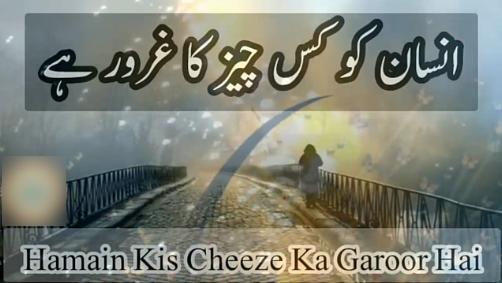 Hamain Kis Cheez Ka Garoor Hai - Raza Saqib Mustafai Status