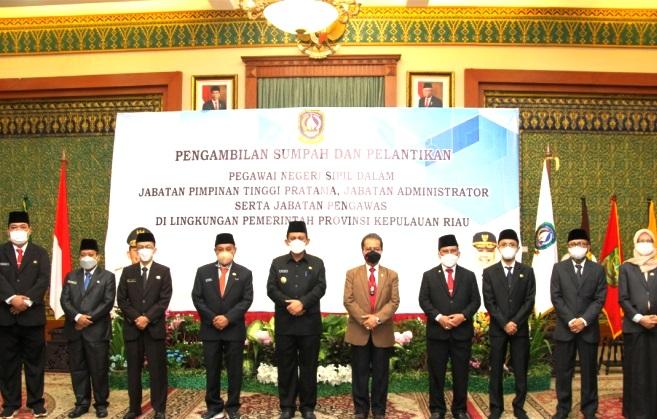 Gubernur Kepri Lantik Sejumlah Pejabat, Berikut Nama-namanya