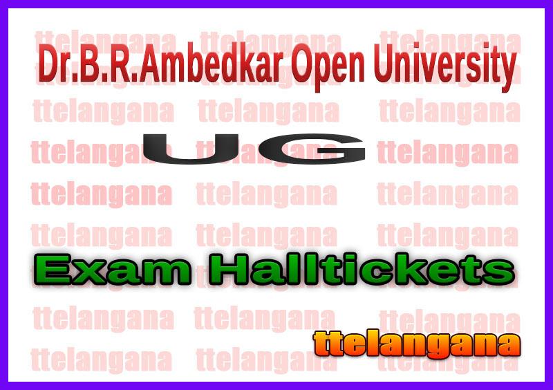Dr.B.R.Ambedkar Open University UG Halltickets Download