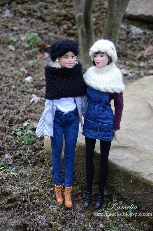 Handmade clothes for Barbie dolls.