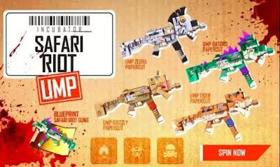 Free Fire Safari Riot UMP Incubator Redeem Code For Free