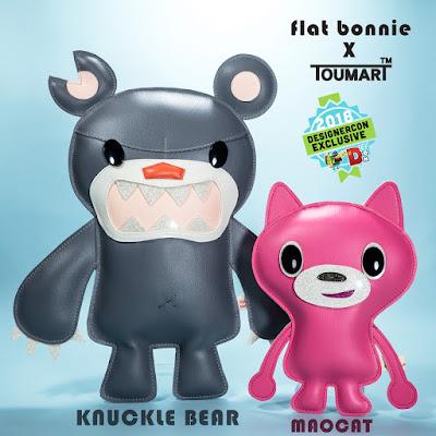 Designer Con 2018 Exclusive Knuckle Bear & MAOCAT Plush Figures by Flat Bonnie x Touma