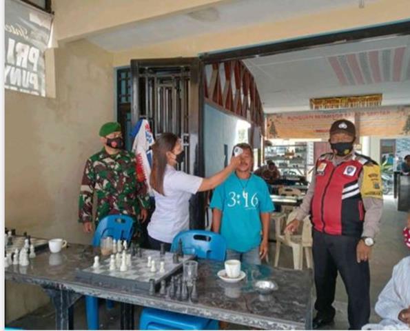 Operasi Yustisi Dilakukan Personel Jajaran Kodim 0207/Simalungun Bersama Forkopimcam Diwilayah Binaan