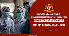 Mohon Jawatan Kosong Terkini KKM Sebelum 30 Jun 2021, Spm Layak Untuk Memohon!