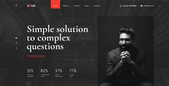 Best Lawyers and Law Firm HTML Template