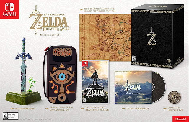Edición máster del juego Zelda Breath of the Wild para Nintendo Switch.