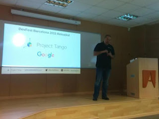 Promoting @Project_Tango @lyang #projecttango among developers and explaining my ongoing projects with this technology