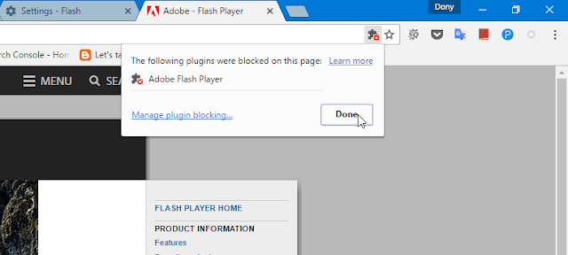 Cara Mengatur Flash Player di Chrome