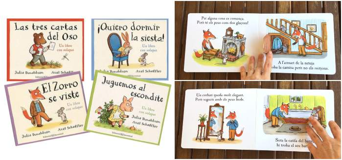 cuentos con pestañas, solapas, ventanas, Bosque bellota julia donaldson