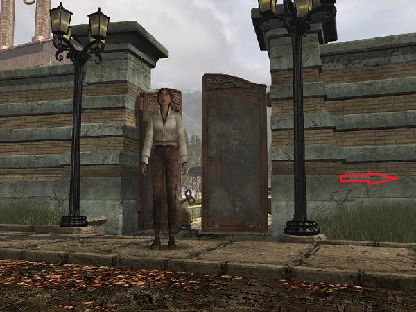 из открытых ворот фабрики вышла кейт и направилась в сторону дома нотариуса в игре сибирь