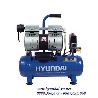 máy bơm hơi không dầu, máy nén khí không dầu hyundai AH1-12, máy nén  khí hyundai AH 1-12, máy nén khí mini, máy bơm hơi mini