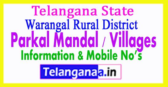 Parkal Mandal Villages in Warangal Rural District Telangana