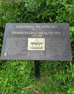 Historic Yellow Springs Colonial Spa Plaque