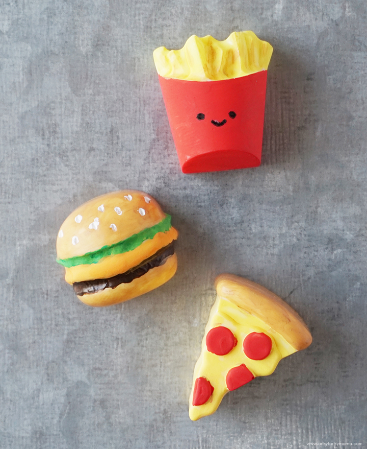Resin Junk Food Magnets on Metal