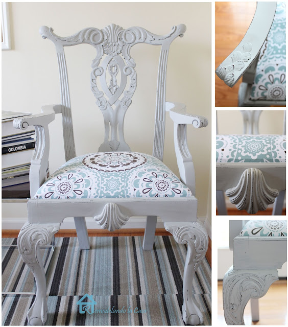 My First Experience with Chalk Paint - Chippendale Chair ...