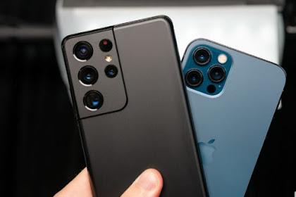 Perbandingan iPhone 12 Pro dan Galaxy S21 + Box