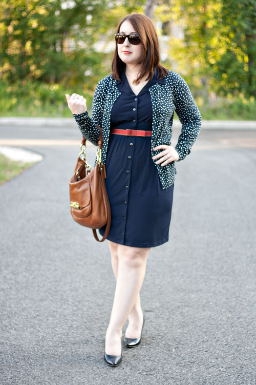 57fb7ff6783 Dress  TJ Maxx  Similar    Sweater  Ann Taylor  Similar    Belt   Anthropologie  Similar    Shoes  Macy s   Handbag  Coach  Similar     Sunglasses  Chanel ...