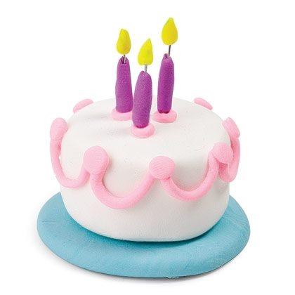 Clay Crafts: Tiny Birthday Cake