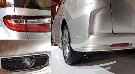 Eksterior Honda Odyssey lebih mewah dengan gril hitam depan baru