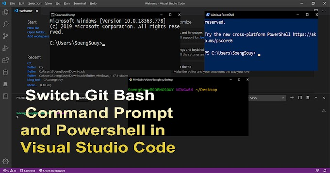 Switch Git Bash Command Prompt and Powershell in Visual Studio Code