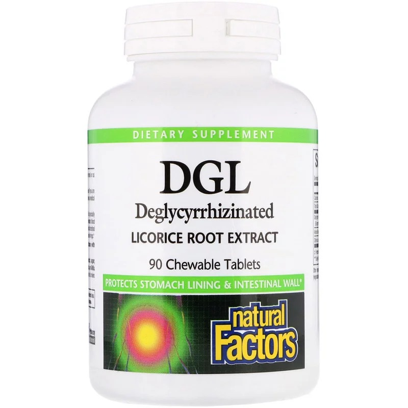 Natural Factors, DGL, Deglycyrrhizinated Licorice Root Extract, 90 жевательных таблеток