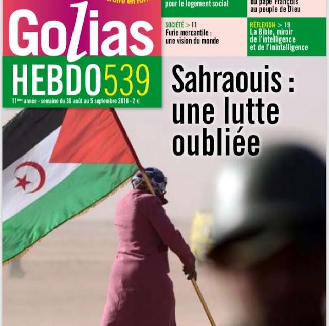 """الصحراويون """"كفاح منسي"""" مقال لتحسيس الراي العام الفرنسي بمعاناة الشعب الصحراوي وكفاحه من اجل الاستقلال"""