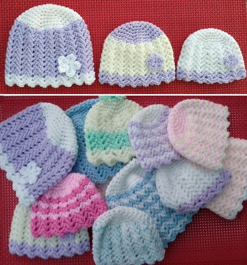 Aimee Baby Hat - Free Pattern