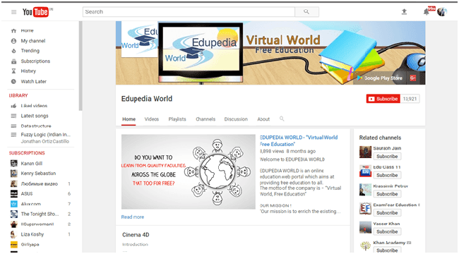 Edupedia World YouTube Channel