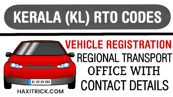 Kerala (KL) Vehicle Registration Numbers List