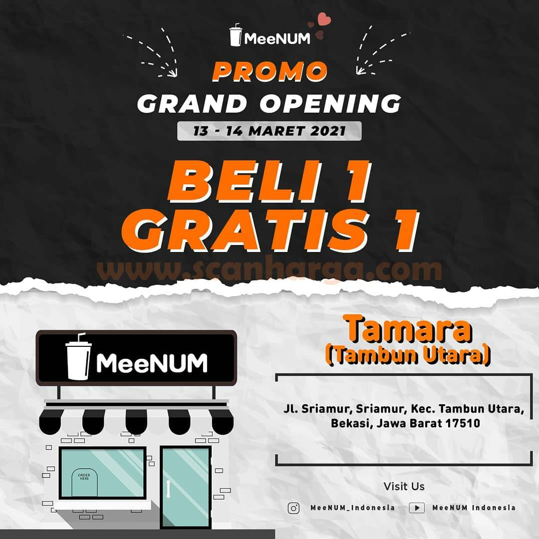 MeeNUM Tambun Utara Promo Grand Opening – BELI 1 GRATIS 1