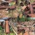( படங்கள் ) வலி வடக்கில் இராணுவத்தினரால் கைவிடப்பட்ட ஆயுத கழிவு பொருட்கள். இரும்பு சேகரிப்பு தொழில் செய்பவர்கள் களத்தில்.