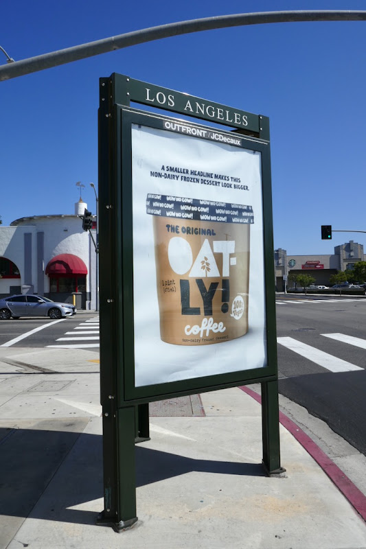 Oatly Coffee frozen dessert street poster