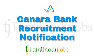 Canara bank recruitment 2018, bank recruitment 2018, govt bank jobs 2018