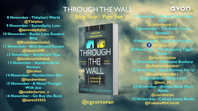 Through the Wall by Caroline Corcoran blog tour banner