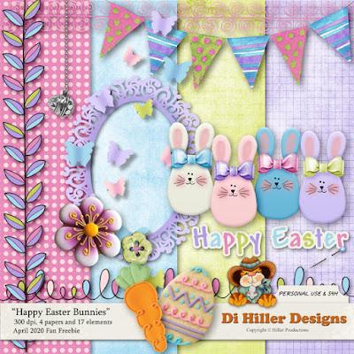 Happy Easter Bunnies Freebie