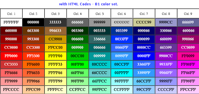 CSS color codes