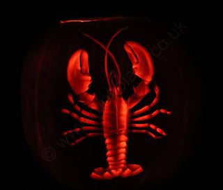 pumpkin carving of a lobster