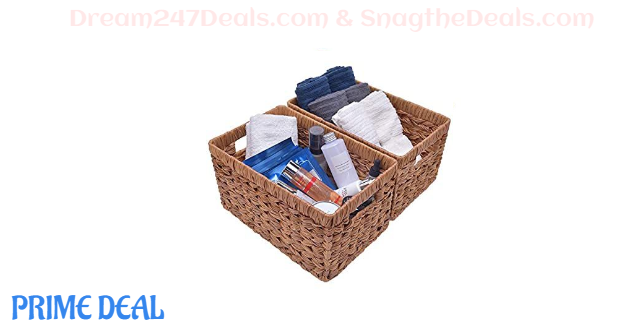 40% OFF  Hand-Woven Storage Baskets Set of 2