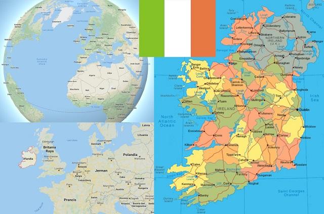 peta negara irlandia