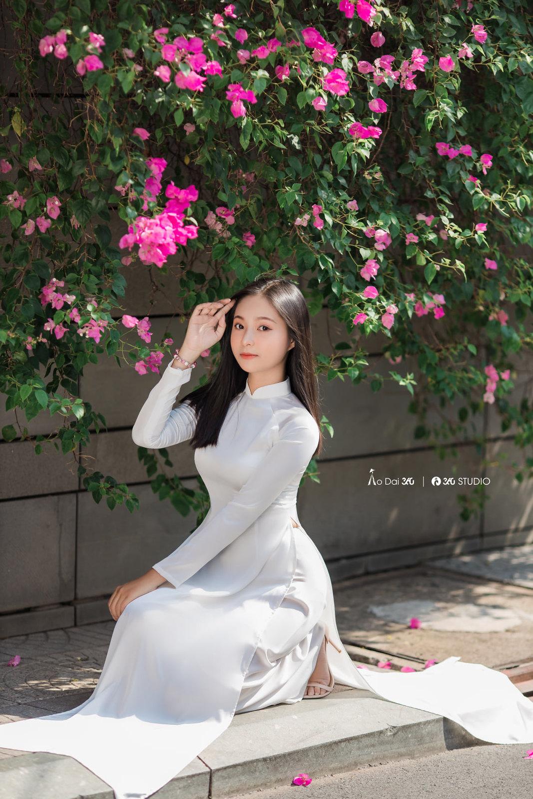 Tuyển tập girl xinh gái đẹp Việt Nam mặc áo dài đẹp mê hồn #57 - 23