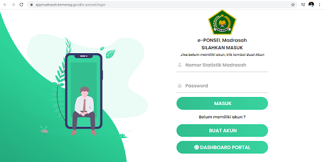 https://appmadrasah.kemenag.go.id/e-ponsel/ Aplikasi Verval Nomor Ponsel Kemenag