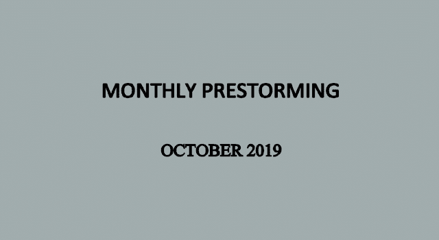 UPSC Monthly Prestorming - October 2019 for UPSC Prelims 2019