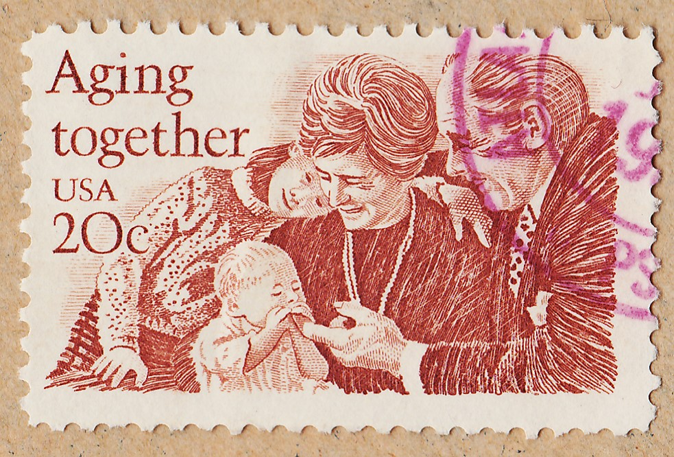 1982 Aging Together 20 cent stamp.