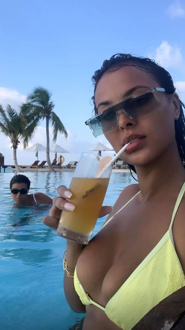 Maya Jama shows off figure in tiny yellow bikini in the Maldives