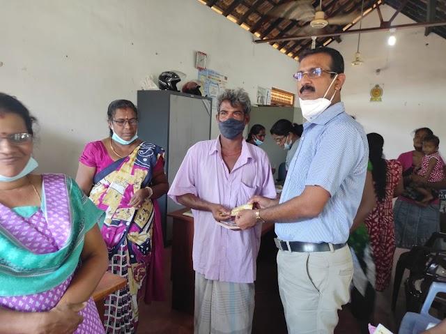 மண்முனை வடக்கு பிரதேச செயலகம் ஊடாக 5000ரூபா வழங்கும் செயற்பாடு