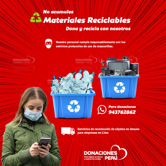 No acumules Materiales Reciclables
