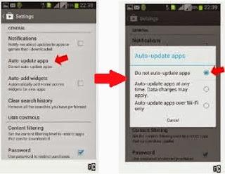 Cara NonAktifkan Apps / Aplikasi Update Otomatis di Android